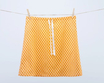 Clearance ~ Tangerine Polkadots ~ Lined Aline Skirt ~ 100% Cotton