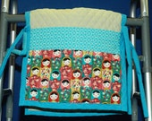 Walker bag, pouch, quilted tote, mobility bag, assisted living. sofa caddy, hospital bed, caddy, bedside caddy