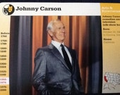 Grolier Card    Johnny Carson  Mint Condition
