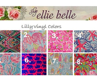 Lilly Vinyl Personalized Monogram Decal (Various Sizes)