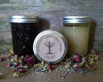 All Natural Lavender  Sugar Scrub