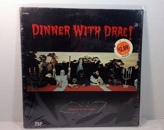 Children Of The Night Dinner With Drac vinyl record Halloween Party EX