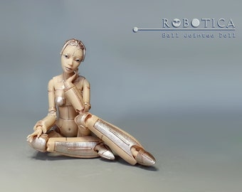 Jointed robot. 3d printed. doll. art doll