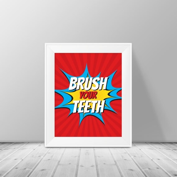 Superman Bathroom Decor: Kids Bathroom Decor Superhero Pop Art Kids By