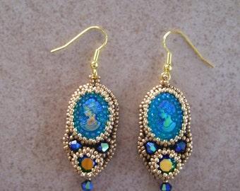 Cameo Blue Earrings