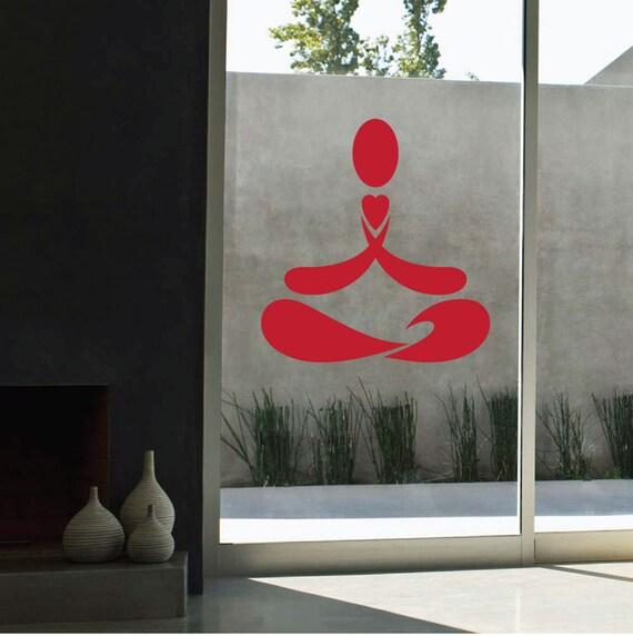 YOGA HEART Vinyl Decal Sticker Meditation Symbol Lotus - Vinyl stickersaum die cut vinyl decal pv