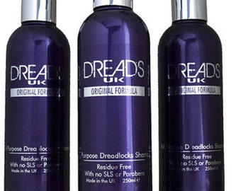 Dreadlocks Shampoo -  3 bottle 'Value pack' clarifying dread shampoo removes residue refreshes dreads