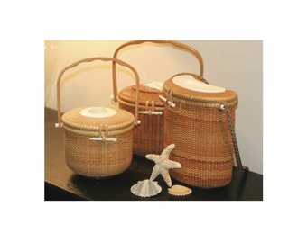 "Nantucket Baskets in an 8"" x 10"" mat ready for framing"