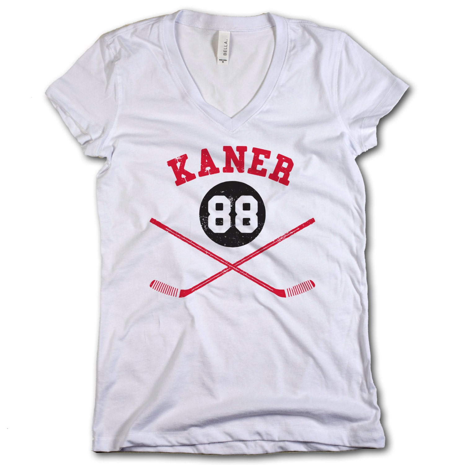 Patrick kane nhlpa officially licensed chicago womens v neck for Patrick kane mullet shirt