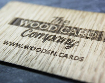 Real Wood Business Cards Single and Double sided Custom Wooden Card