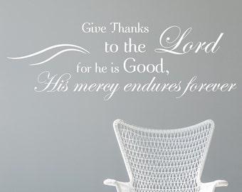 Psalm 118:1 | Bible Verse Wall Decal