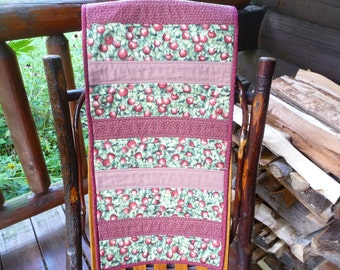 Apple Table Runner - Dresser Scarf - Table Cover - Ready to Ship