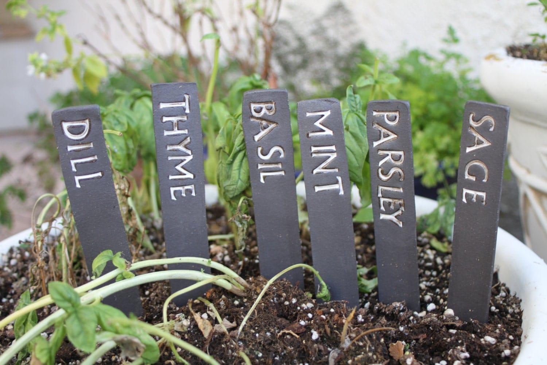 Herb garden marker Etsy