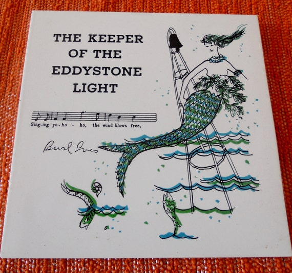 Vintage Novelty Tile 1960s: The Keeper of the by BackToThe60s