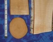 Design personnalisé rustique à bois pyrogravure signe écorce naturelle bords