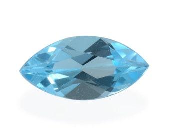 Blue Topaz Marquise Cut Loose Gemstone 12x6mm TGW 1.87 cts.