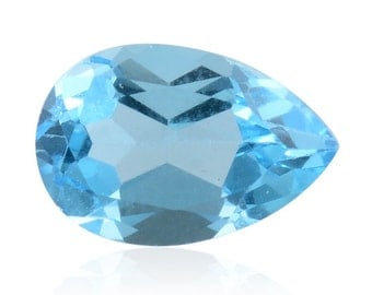 Blue Topaz Pear Cut Loose Gemstone 1A Quality 12x8mm TGW 3.20 cts.