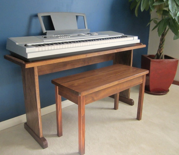 Items Similar To Custom Keyboard Stand And Bench Steady Stylish On Etsy: keyboard stand and bench