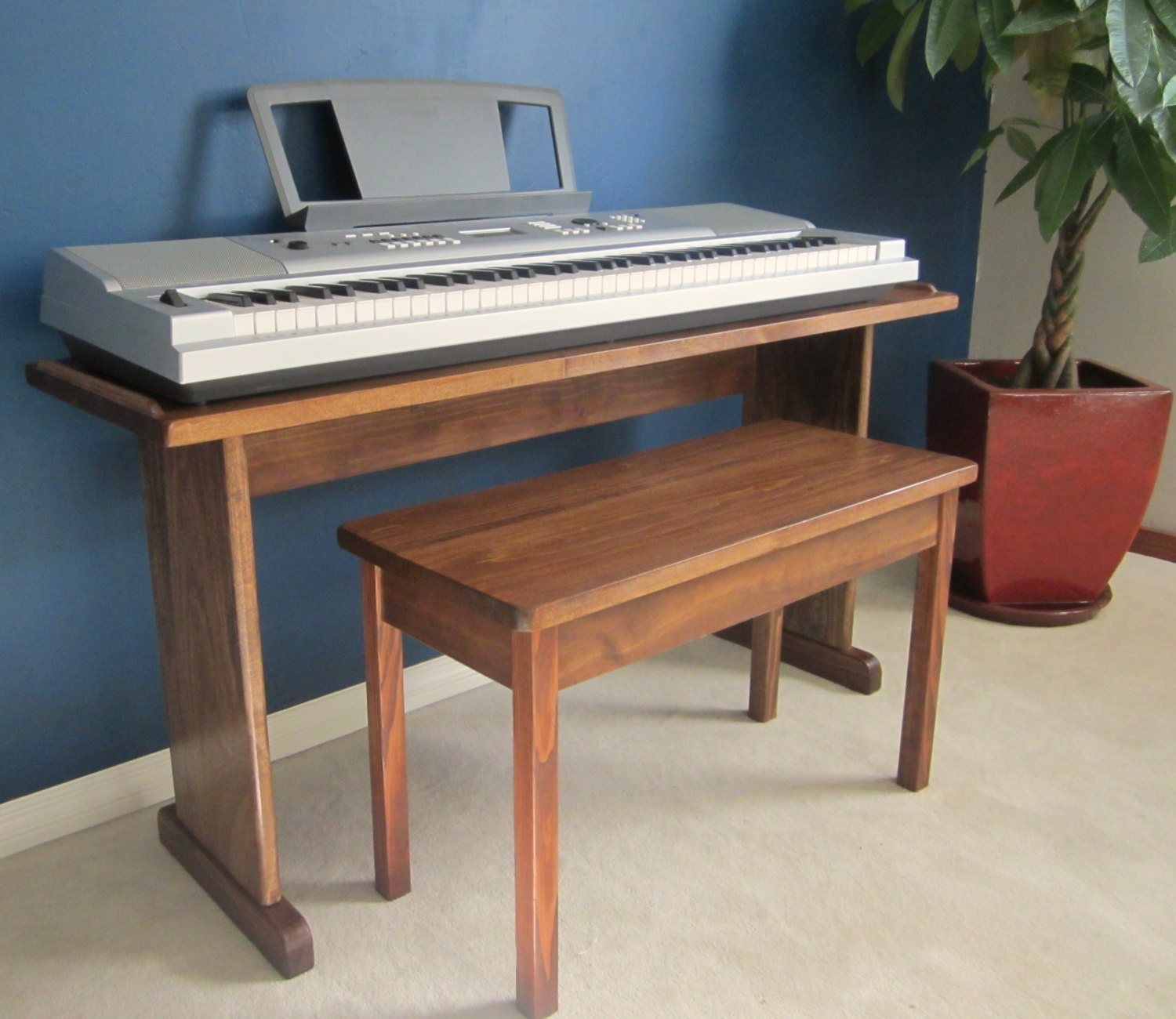 Items similar to custom keyboard stand and bench steady Keyboard stand and bench