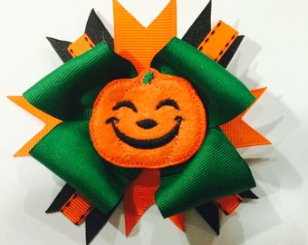 Halloween Hair Bow...pumpkin hair bow