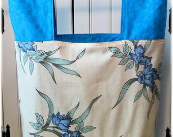 Blue Iris Reusable Grocery Bag