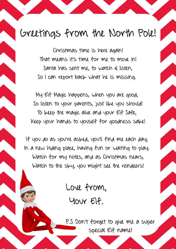 elf on the shelf arrival letter unavailable listing on etsy 21462