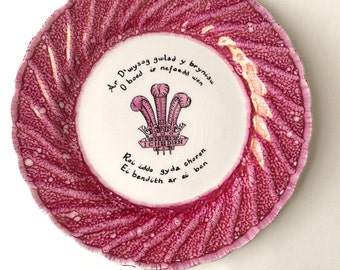 Prince of Wales 1969 Commemorative Plate Creigiau Pottery