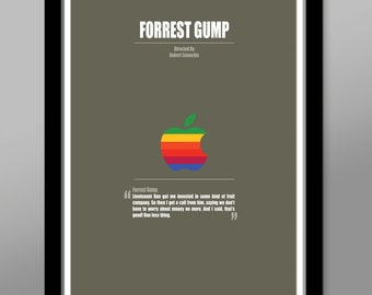 Forrest Gump Minimalist Quoted Movie Poster - Home Decor