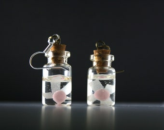 Legend of Zelda Fairy in a bottle Earrings (They glow in the dark!)