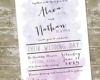 Alexa Wedding Invitation