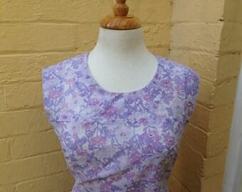 60's Purple Shift dress, size 10/12, US size 4/6