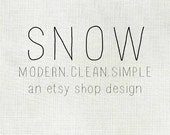 ETSY BANNER Etsy Shop Banner and Avatar Premade Banner Custom with Shop Name SNOW