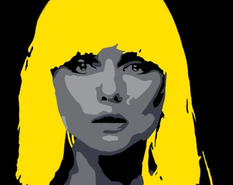 Debbie Harry - Limited Edition canvas print (A2) from original hand painted acrylic canvas
