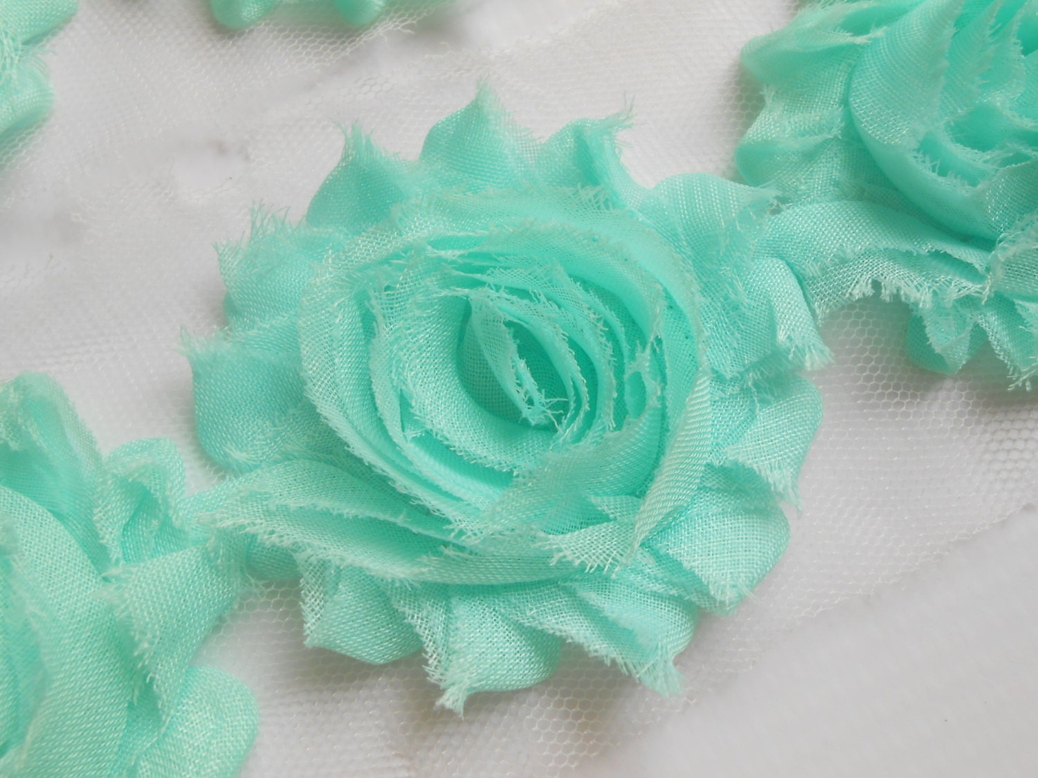 sea foam green shabby rose trim in 1 2 yard and 1 yard. Black Bedroom Furniture Sets. Home Design Ideas