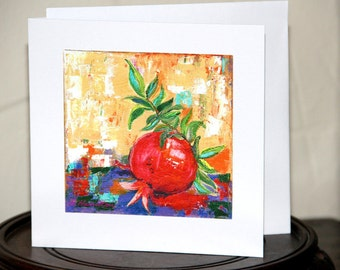 Pomegranate, Note Card, Red Pomegranate
