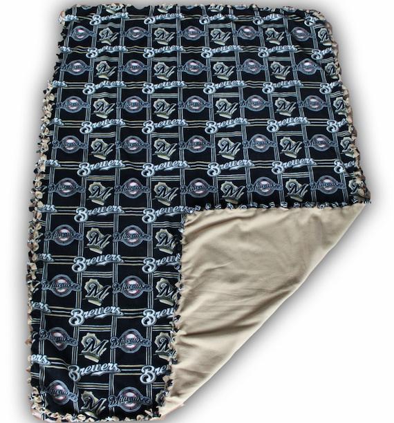 SALE Milwaukee Brewers fleece, Brewers fleece, weighted blanket, baseball blanket, MLB fleece, thermal, reversible, Wisconsin sports, MLB