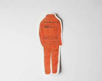 Nathan jumpsuit from Misfits tv series - sticker