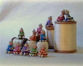 Fimo mini dolls
