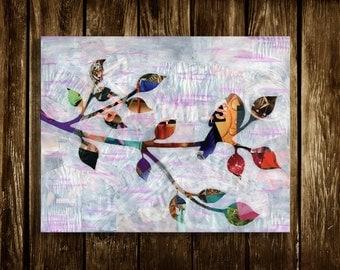 Bird wall art, Mothers day gift ideas, bird decor, Bohemian decor, Painting of bird, Whimsical Art, bird art print, Wedding gift