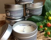Lavender soy candle. 4 oz soy candle.Calm lavender and ylang ylang essential oil candle.cotton wick candle
