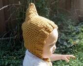 Little Elf Hood // Mustard Yellow // Baby Hat