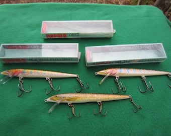 3 New Old Stock RAPALA Fishing Lures Lure