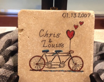 Kitchen Trivet, Decorative Plate, Monogram, Home Decor, Personalized Gift