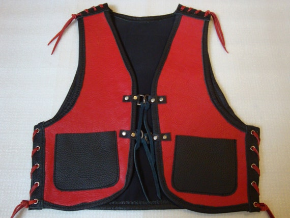 biker vest kutte for kids from 3 by lederkunstao on etsy. Black Bedroom Furniture Sets. Home Design Ideas