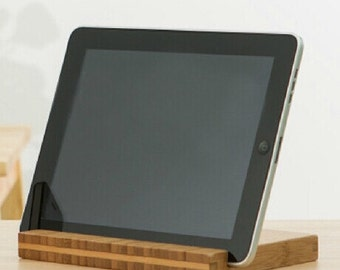 iPad stand. bamboo Wooden iPad Stand. bamboo iPad Dock. iPad wood stand. iPad Wood Docking Station.