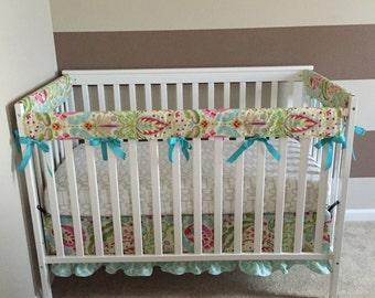 Ruffle Crib Skirt - Kumari Garden