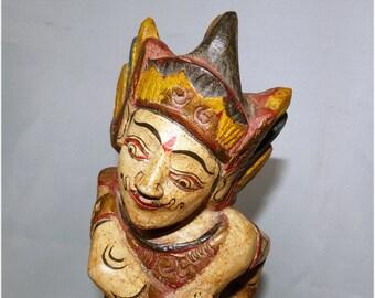 Vintage Indonesian Wood Sculpture