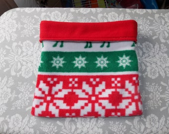 Christmas Deer Print Cuddle Sack or Tunnel