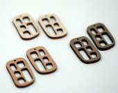 2 Penta-Window Beads : Cherry, Maple or Walnut