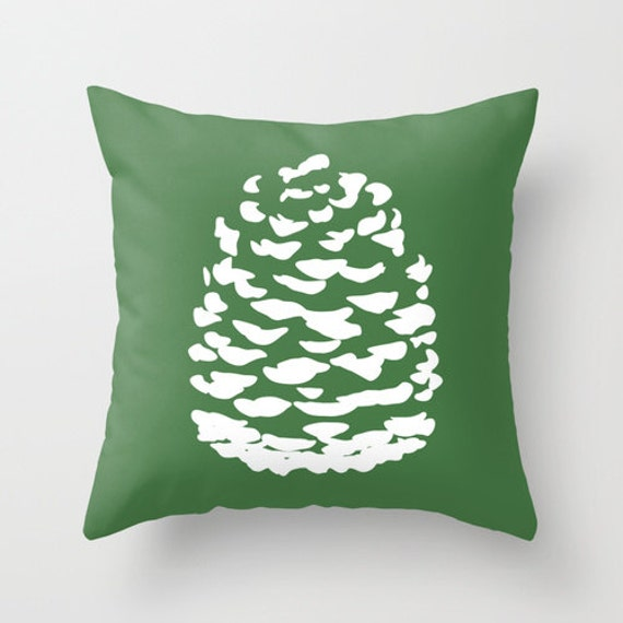 Modern Decorative Pillow Covers : Modern Pinecone Throw Pillow Cover Fall Accent Pillow